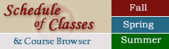 Schedule of Classes & Course Browser