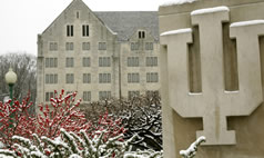 Limestone IU sculpture by the Indiana Memorial Union on IU Bloomington campus