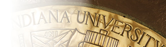 IU Seal in Gold, Alumni Hall.