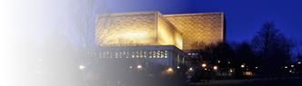 Herman B Wells Library at night